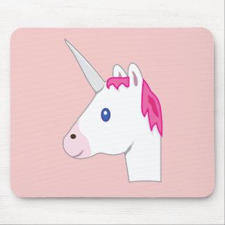 Unicorn emoji mouse pad