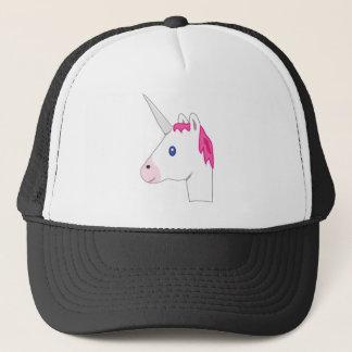 Unicorn emoji trucker hat