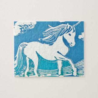 Unicorn Fantasy Landscape Photo Puzzle with Box