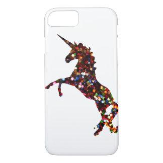 Unicorn iPhone 7 Case: Glitter silhouette iPhone 8/7 Case