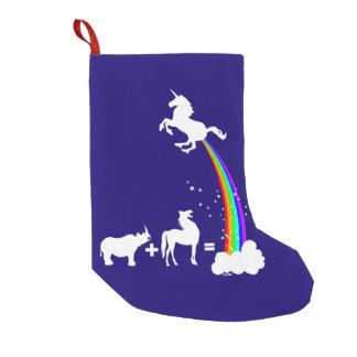 Unicorn origin small christmas stocking