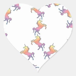 Unicorn Peace Heart Sticker
