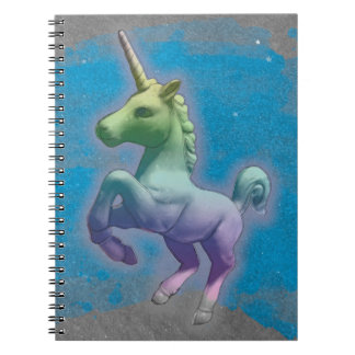 Unicorn Photo Notebook 80 Pages (Blue Nebula)