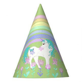 Unicorn & Rainbow Birthday Party Party Hat