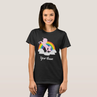 Unicorn Rainbow Fantasy Personalised T-Shirt