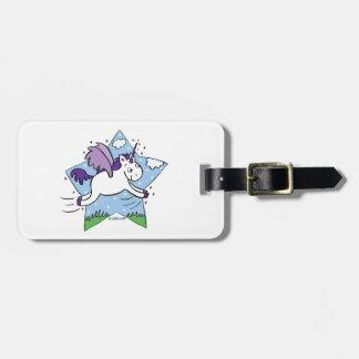 Unicorn Star Luggage Tag