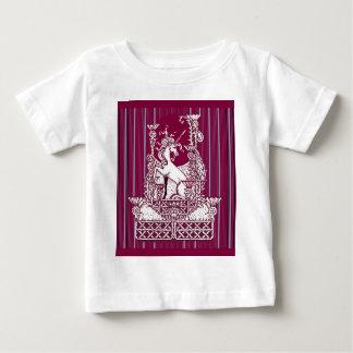 Unicorn Thistle Burgundy Art by sharles Art Baby T-Shirt