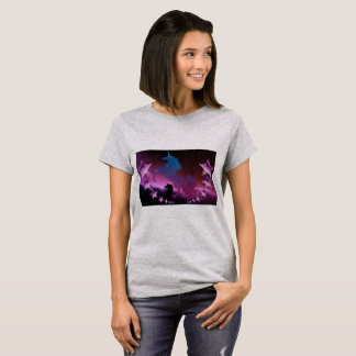 Unicorn with stars T-Shirt