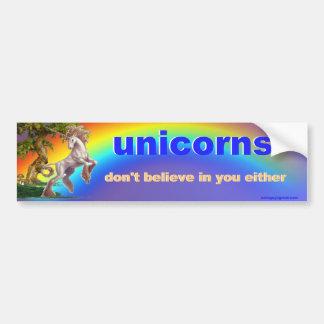 unicorns bumper sticker