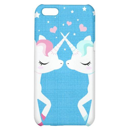 Unicorns in love Iphone case customisable iPhone 5C Case