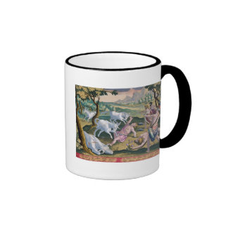 Unicorns on the Banks of the Indus, Hunted by Perm Coffee Mug