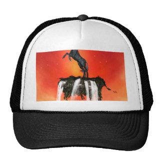 Unicorns on the rock with waterfalls trucker hat