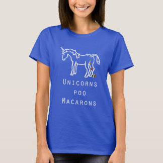 Unicorns poo Macarons blue women's t-shirt