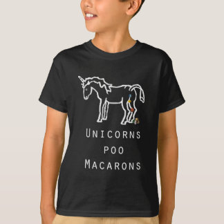 Unicorns Poo Macarons T-Shirt
