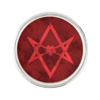Unicursal Hexagram (Red Textured) Lapel Pin