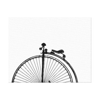 UNICYCLE ART PRINT - ONE OF A UNICYCLE COLLAGE STRETCHED CANVAS PRINT