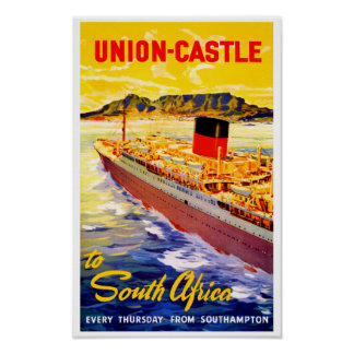 Union Castle to South Africa Poster