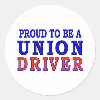 UNION DRIVER ROUND STICKER