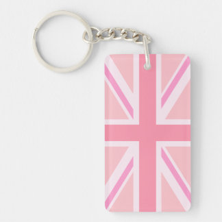 Union Flag/Jack Design Pinks Key Ring