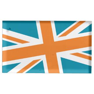 Union Flag Placecard Holder (Teal/Orange)