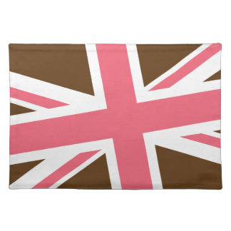 Union Flag Placemat (Brown/Pink)