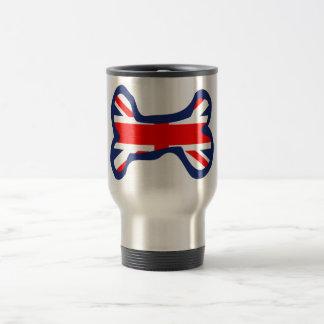 Union Jack Flag Dog Bone Art Stainless Steel Travel Mug