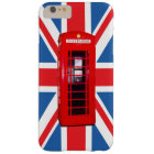 Union Jack/Flag & Red Phone Box Design Barely There iPhone 6 Plus Case