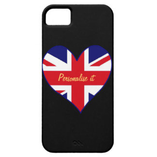 Union Jack heart iPhone 5 Covers