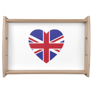 Union Jack Heart Serving Tray