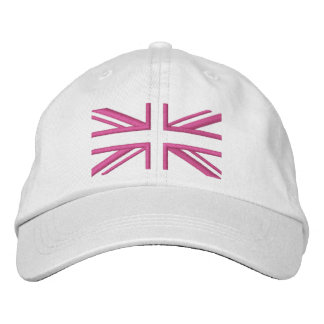 Union Jack ~ In Girly Pinks Embroidered Hat