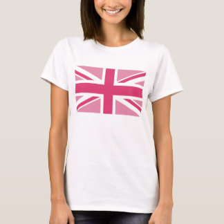 Union Jack ~ In Girly Pinks T-Shirt