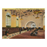 Union Train Station, Los Angeles Vintage Poster
