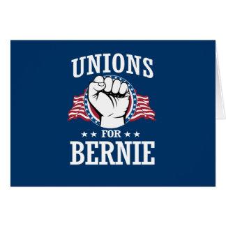 UNIONS FOR BERNIE SANDERS CARD