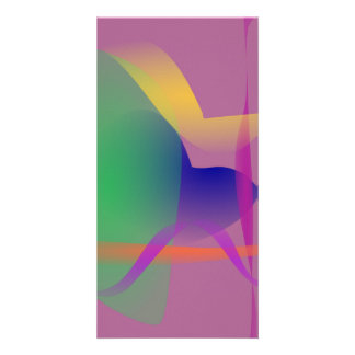 Unique Abstract Design Photo Card Template