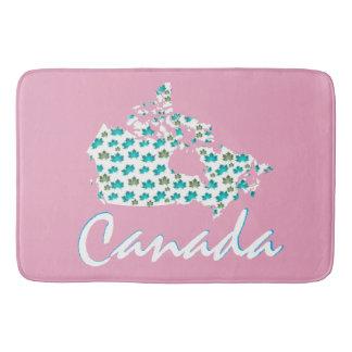 Unique Canadian Maple Canada  bath mat pink