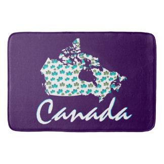 Unique Canadian Maple Canada  bath mat purple