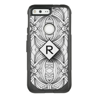 Unique Design Monogram OtterBox Commuter Google Pixel Case