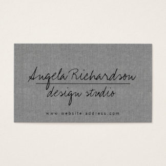 Unique Edgy Handwritten Style Bloggers, Crafters Business Card