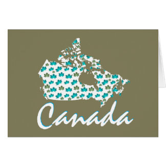 Unique fun Canadian Maple Canada greeting card