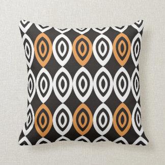 Unique Geometric Pillows - Orange Black And White Throw Cushions