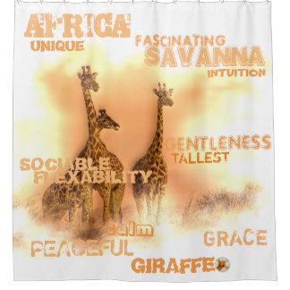 Unique Giraffes Shower Curtain