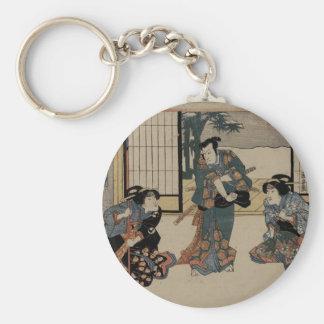 Unique Japanese Vintage Art Key Ring