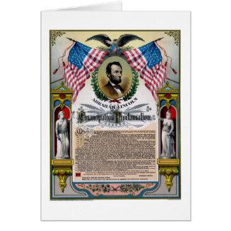 Unique Lincoln Emancipation Proclamation Card