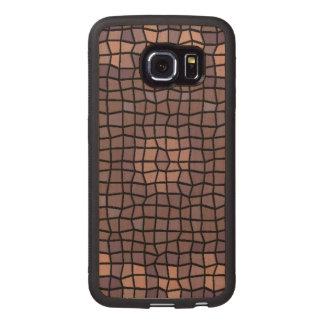 Unique mosaic pattern wood phone case