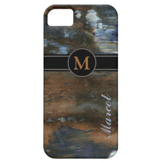 unique personalized name aged texture case for the iPhone 5