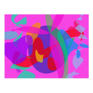 Unique Psychedelic Pink Design Postcards