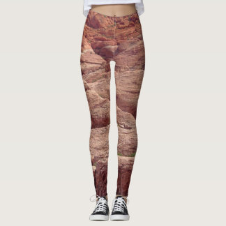 Unique Red Rock Canyon Nevada Rock Formation Photo Leggings