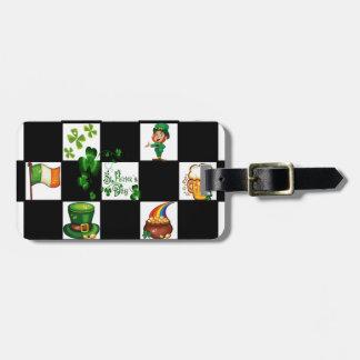 Unique Retro St. Patrick's Day Luggage Tag