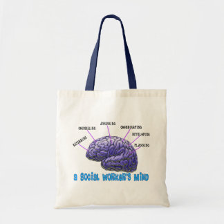 Unique Social Worker Gifts-A Social Worker's Mind Tote Bag