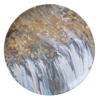Unique Waterfall Plate by Margaret Juul